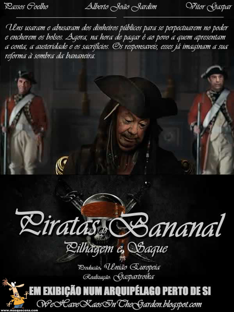 Poster do filme Piradas do Bananal com o Alberto João Jardim
