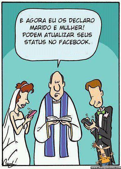 E agora eu os declaro marido e mulher. Podem actualizar os vossos estados no facebook.