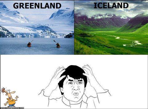 Greenland vs Iceland