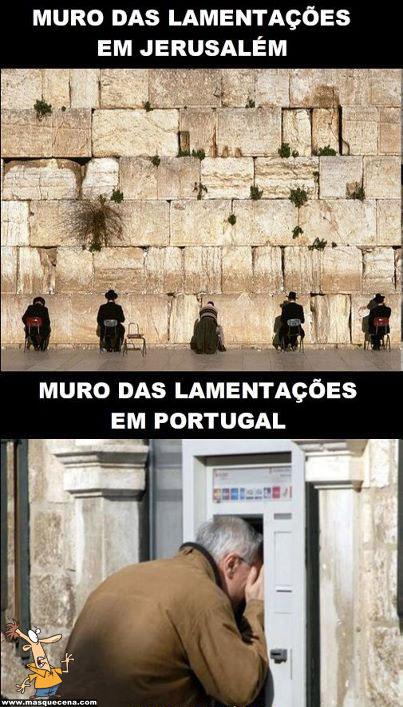 Muro das lamentações em Portugal