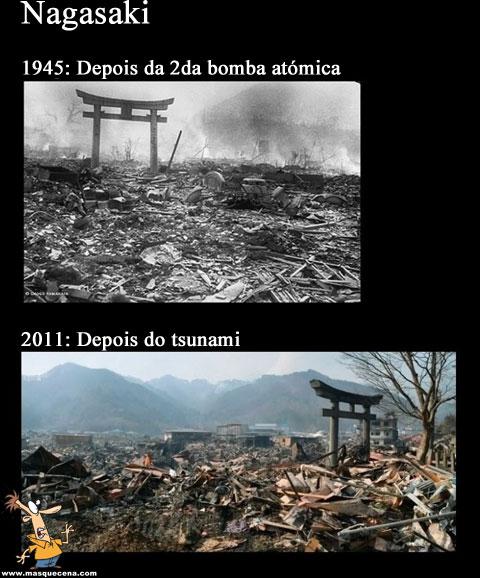 Nagasaki em 1945 e em 2011