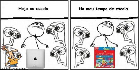 Escola: Antes vs Agora