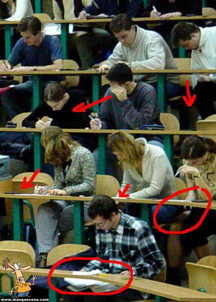 Na altura de exames