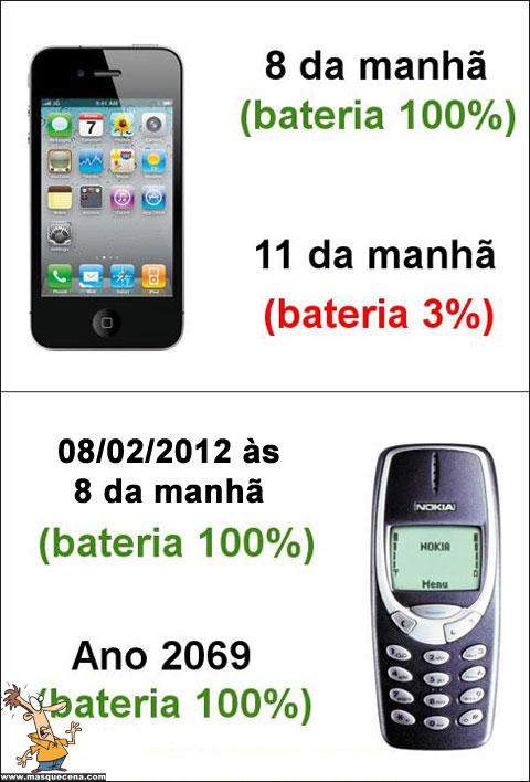 Bateria do iPhone vs Bateria do Nokia 3310