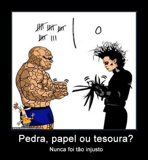 Pedra, papel ou tesoura