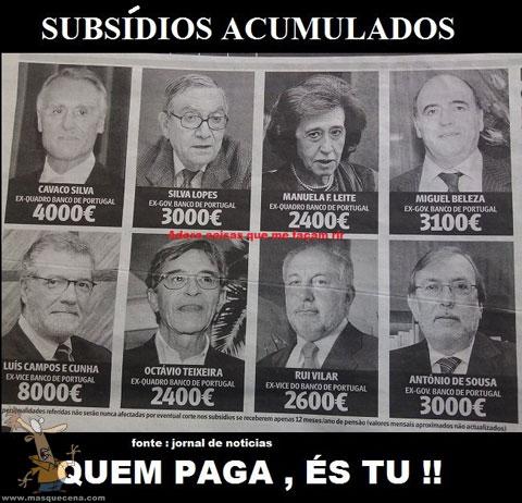 Subsídios acumulados