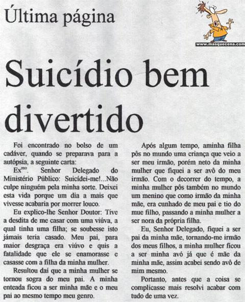 Um suicídio bem divertido