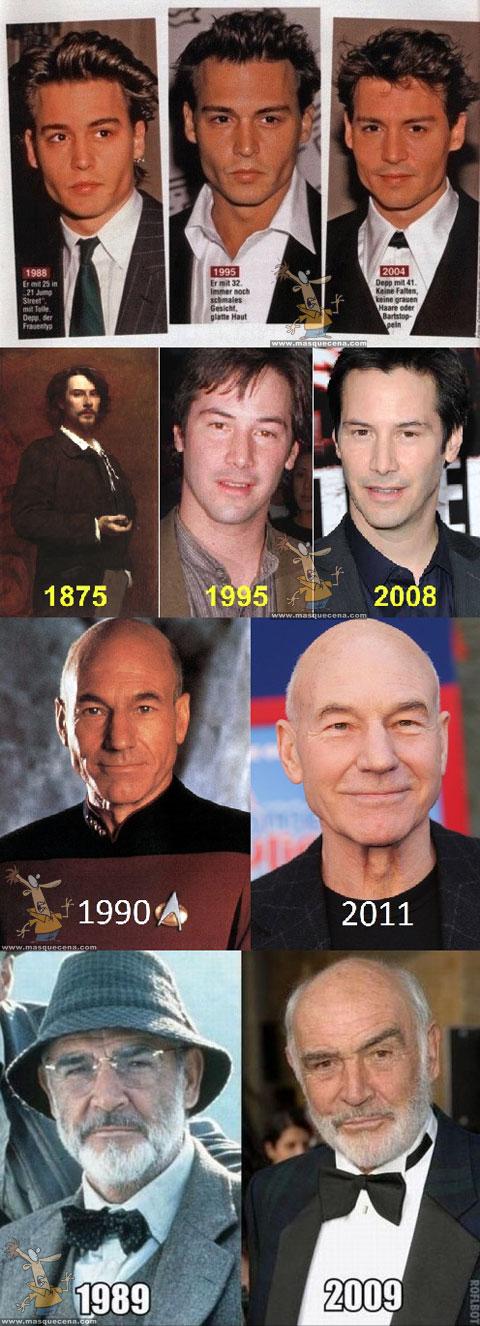 Actores que nunca envelhecem
