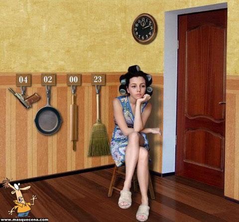 Kit para mulheres casadas quando os maridos chegam tarde