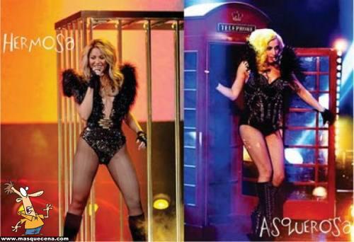Lady Gaga copiando a Shakira