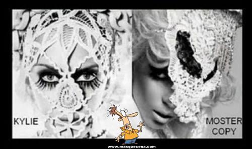 Lady Gaga vestida da mesma maneira que a Kylie Minogue