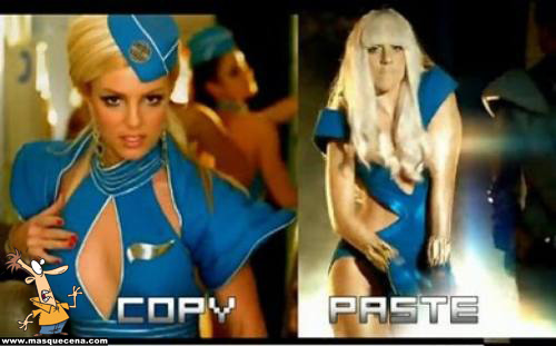 Lady Gaga vestida de forma idêntica à Britney Spears