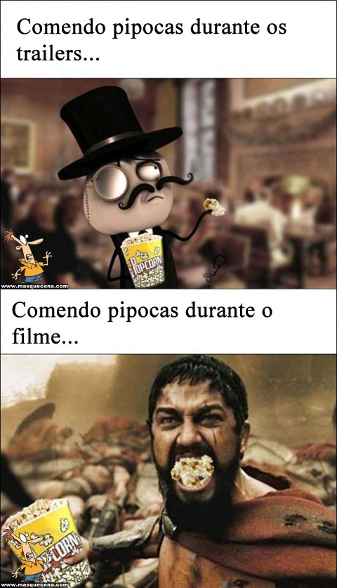 Comendo pipocas no cinema...