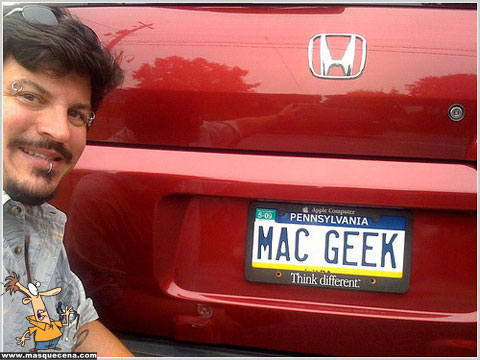 Matrícula de carro que diz Mac Geek
