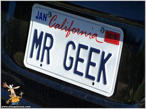 Matrícula de carro que diz Mr Geek