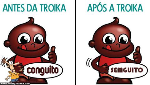 Antes da troika: Conguito, Depois da troika: Semguito