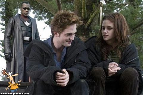 Blade por trás de Edward e Bella