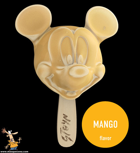 Gelado em forma de Mickey Mouse