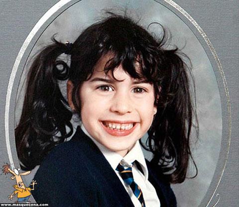 Amy Winehouse quando era mais jovem
