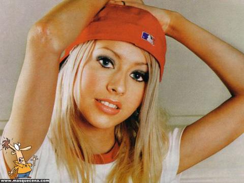 Christina Aguilera quando era mais jovem