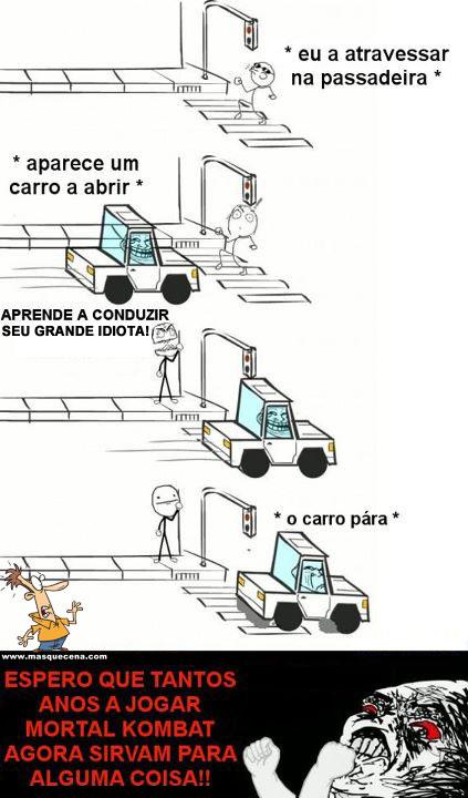 Pessoa insulta condutor e o carro pára