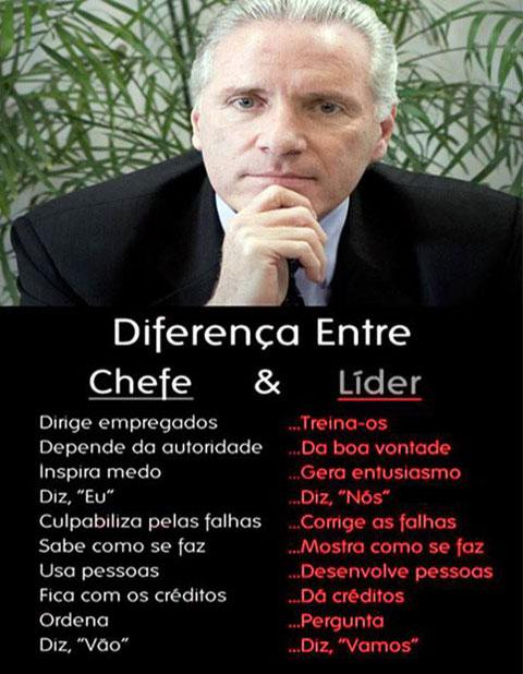 Diferenças entre chefes e líderes