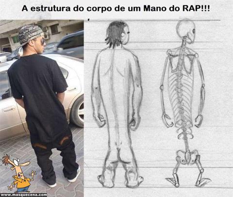 """Estrutura do corpo de um """"mano"""" do Rap"""
