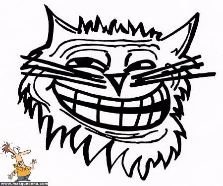 Gato com cara de troll