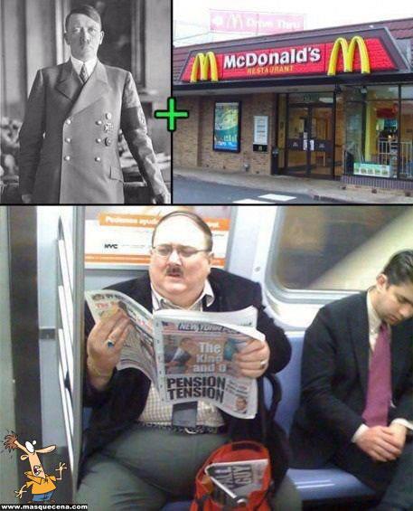 """Efeitos da conhecida rede de """"fast food"""" no Adolf Hitler"""