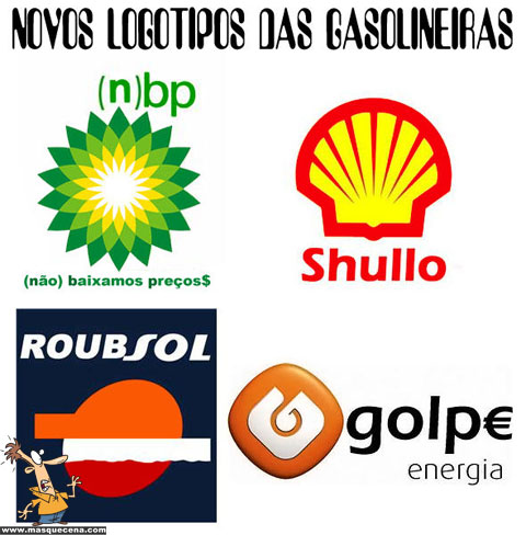 Novos logótipos das gasolineiras