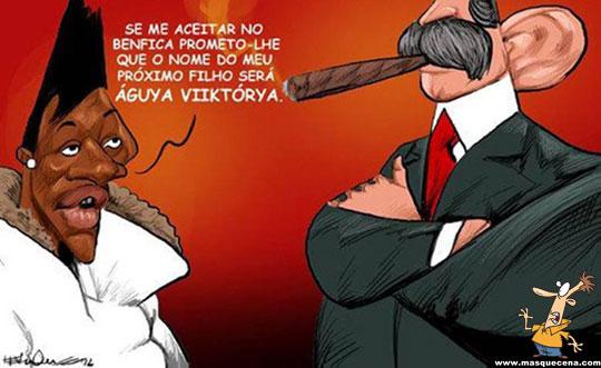 Yannick Djaló prometeu ao Luis Filipe Vieira que iria chamar a sua filha de Águya Viktória