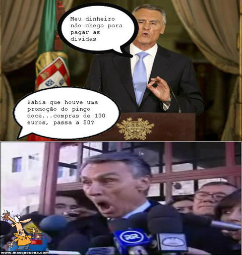 O Presidente Cavaco Silva não soube a tempo da promoção do Pingo Doce