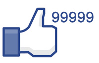 Simbolo like do facebook