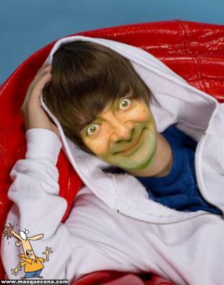 Mr. Bean como Justin Bieber