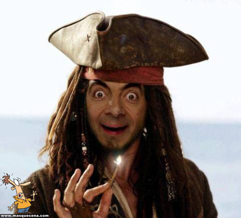 E se o Mr. Bean fosse um pirata