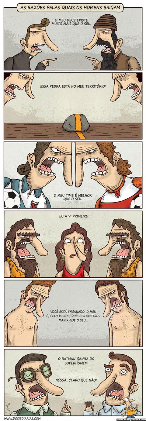 As razões pelas quais os homens brigam