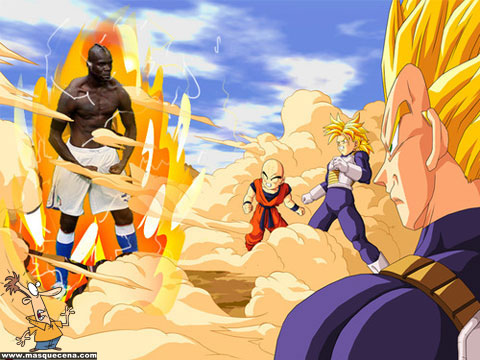 Balotelli como personagem do Dragon Ball