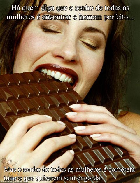 O verdadeiro sonho das mulheres é comer tudo o que quiserem sem engordar