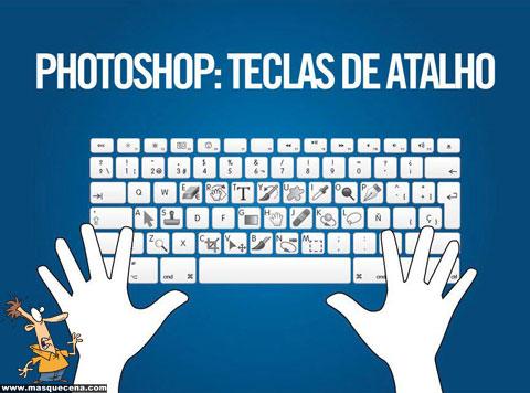 Teclas de atalho para algumas das ferramentas mais utilizadas no Photoshop