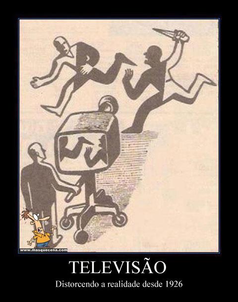 Imagem que mostra o poder que tem a televisão e os meios de comunicação social em geral