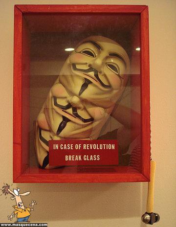 Quebrar o vidro em caso de revolução