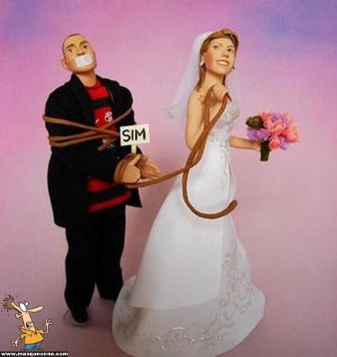 Topos para bolos de casamento engraçados