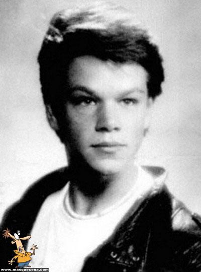 Young Matt Damon yearbook picture