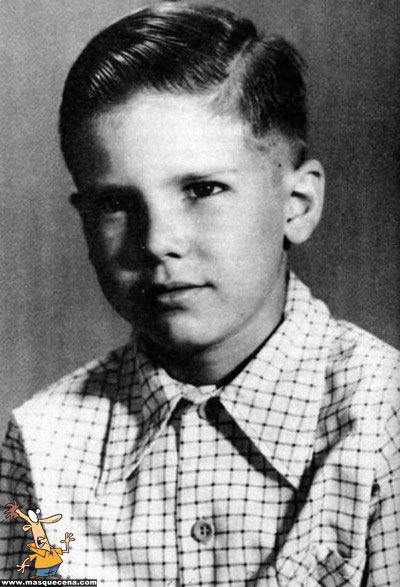 Young Harrison Ford as a boy