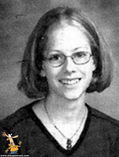 Young Avril Lavigne yearbook picture