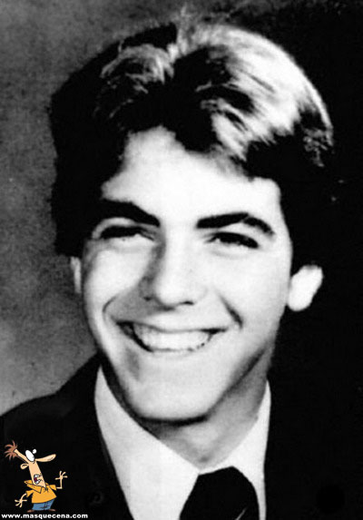 Young George Clooney before he was famous yearbook picture