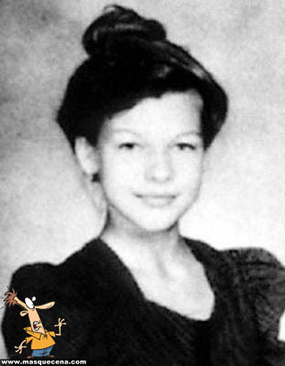 Young Milla Jovovich yearbook picture