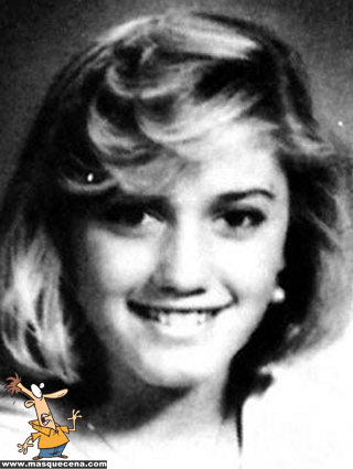 Young Gwen Stefani before she was famous yearbook picture
