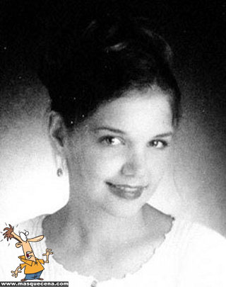 Young Katie Holmes before she was famous yearbook picture