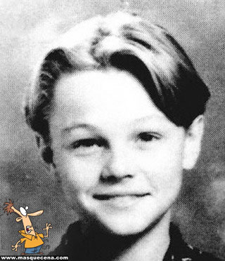Young Leonardo di Caprio as a kid yearbook picture